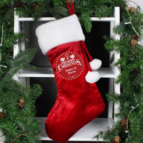 Personalized Couples First Christmas Stocking add Any Name gift